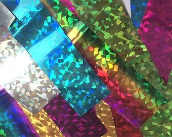 4 pc's 20x4 cm Starry Sky Nail Foils Nail Art Transfer Sticker Decal Stylish DIY Nail Tips Decoration