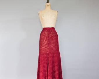 Vintage 1950s Scarlet Ribbon Skirt