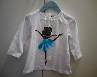 T-shirt girl ballerina