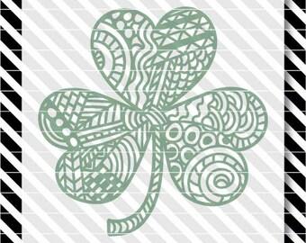 Coloring Book Shamrock svg - Coloring Shamrock dxf - Coloring Book Clover - St. Patrick's Day svg - St. Patrick's Day dxf -St. Patrick's Day