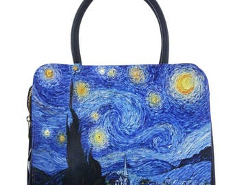 "Van Gogh's ""starry night"" faux leather bag"