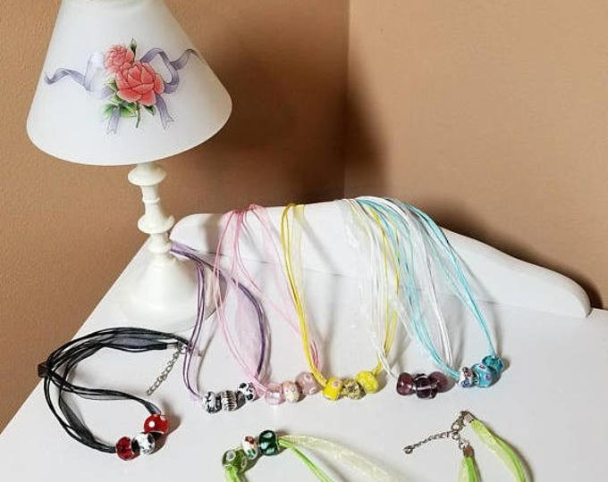 Lampworked glass chokers