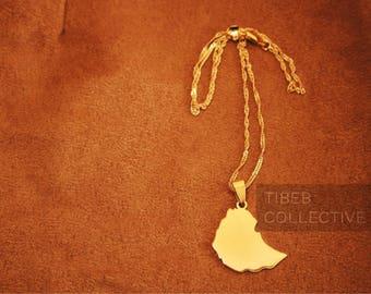 Ethiopia Map Necklace • Gold Finish