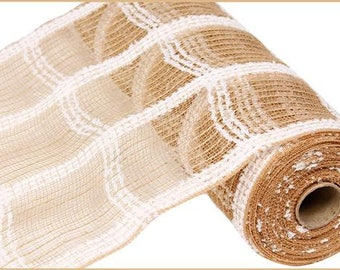 RIBBON - Wired Ribbon - Poly Mesh - Jute Mesh - Floral - Deco Mesh  - Wreath - RY810718