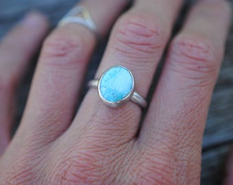 Simple Turquoise Ring | Size 6 | Sterling Silver