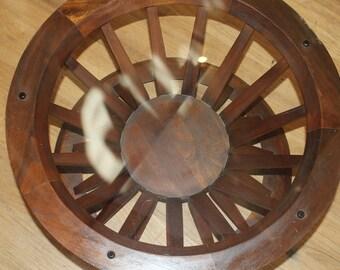 "Edward Wormley Dunbar Sheaf of wheat coffee table with 32"" glass top"