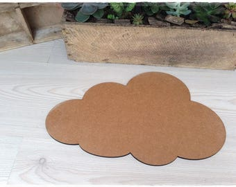 Cloud blank height 22 cm width 35 cm thickness 6mm