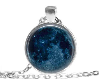 New Moon Necklace,Moon Jewelry, Moon Phase Pendant, New Moon Keychain, Moon Phase Gift
