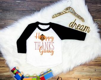 Childrens Thanksgiving Shirt, KidsThanksgiving Shirt, Thanksgiving T-Shirt, Happy Thanksgiving Shirt, Thanksgiving Raglan, Kids Thanksgiving