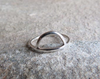 Sterling silver semi circle ring