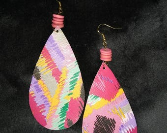 Abstract Leather Earrings