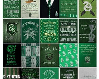 Slytherin House Harry Potter Planner Sticker Quote Set! /Erin Condren Planner/ Me & My Big Ideas Planner/Scrapbooking