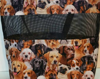 Large Tote Bag, Handmade Dogs Breeds Cats Puppies Kittens