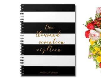 2018 Planner - 2017 - 2018 Weekly Planner - Personalized Planner - Academic Planner - Agenda 2017 - Student planner - 2018 Calendar