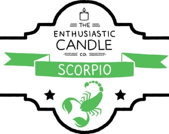 SCORPIO Zodiac Soy Candle