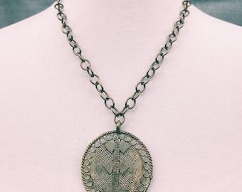 Vintage disc chain necklace