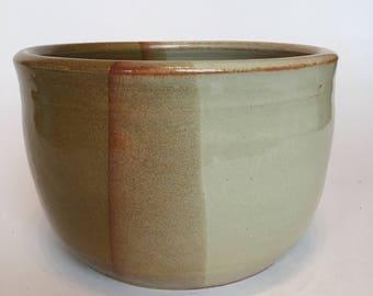Brown Crock- Handmade Pottery by JOY