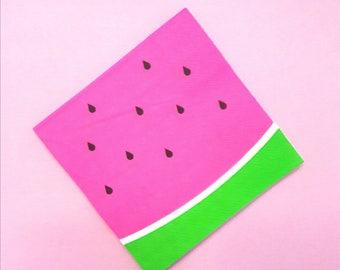 Watermelon. Watermelon Napkins. Watermelon Party. Watermelon Birthday. Watermelon Theme. One in a Melon. Watermelon First Birthday.