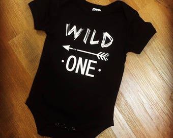 Wild One Onesie, Baby Onesie, Baby Romper, First Birthday Onesie