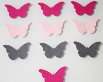 10 Butterfly cardstock - baptism party table decoration.