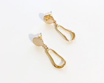 mini abstract disc earrings