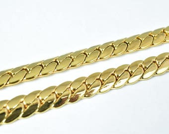 "Gold Filled Chain 18KT Gold Filled Size 19.25"" Long 5mm Width Item #CG195"