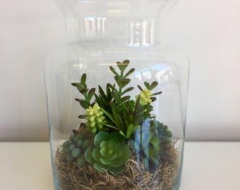 Artificial Succulent terrarium