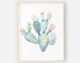 Cactus Blooms Boho Nursery Digital Print | Girl Wall Art | Cactus Floral Baby Girl Nursery Decor | Cactus Blooms Print 3