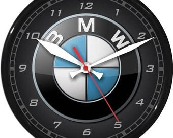 "12"" BMW Wall Clock Garage Work Shop Gift Father's Day Man Cave Rec Room"