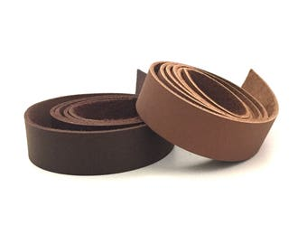 """Brown Leather Strap 24""""  / Two Feet Leather Straps / Custom Leather Straps / Genuine Leather Strap / Leather Strap / Brown Leather Strap"""