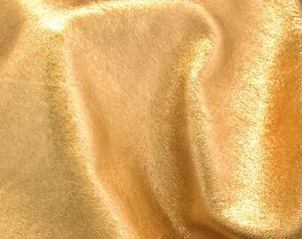 Metallic Gold Leather Piece / Gold Metallic Leather / Metallic Leather Piece / Metallic Lambskin / Golden Leather / Genuine Leather