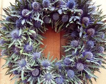 Thistle Wreath - Door Wreath - Seaholly - Eryginium - Country - Wreath
