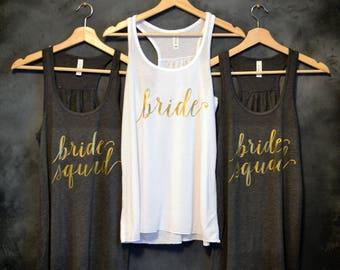 Bride Squad Tank Top, Bride Squad Shirts, Bachelorette party shirts, Bridesmaid shirts, Bridal Party Shirts, Squad Shirts, Squad Tanks