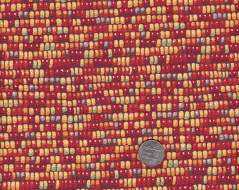 Indian Corn Print Fabric  Cotton Fabric for Quilt Making 1 Yard