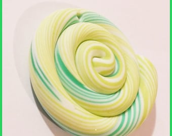 spiral - green polymer fimo clay bead