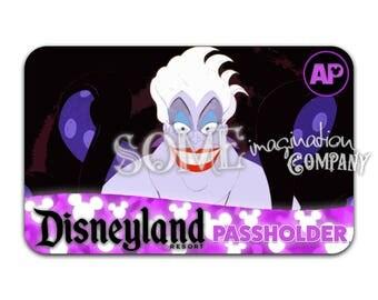 Ursula Disneyland Passholder Sticker