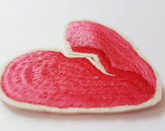 Broken Heart Embroidered Patch