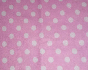 Pink and white Polk a dot fabric