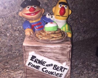 Ernie and Burt cookie jar
