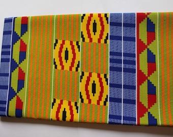 Beautiful Kente Print Fabric - Ankara African Print - African Fabric for sewing - Wax Print Fabric - Kente African Print - Fabric per yard