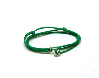 Bracelet small anchor with marine cord