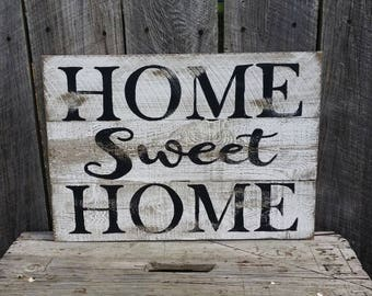 Home Sweet Home Rustic Sign , Wood Wall Art