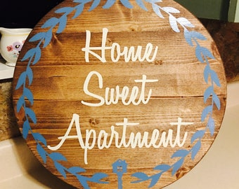 Home Sweet Apartment Hand Painted Wall Decor