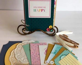 Vintage Handmade Mini Album Smash Book Junk Journal Kit