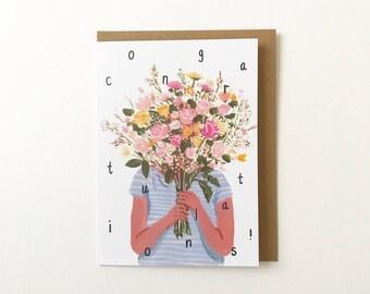 Congrats Bouquet Card