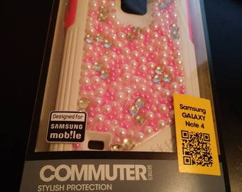 NEW Otterbox Commuter Samsung Galaxy Note 4 Case Neon Rose