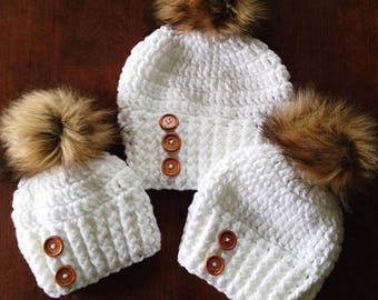 Sleigh Ride Hat Pattern (6-12 Months, Toddler, Child/Young Teen, Adult)