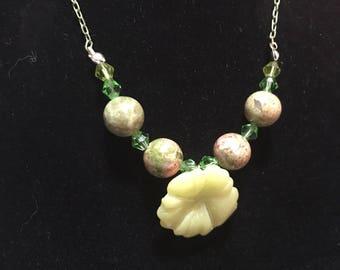 Serpentine Flower Necklace