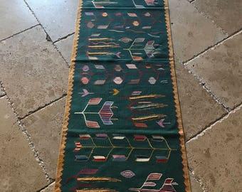 Runner rug,floor runner rug turkish runner rug, kilim runner rug,vintage runner rug,oushak runner, hallway runner rug, runner rug 6.3x2.1 ft
