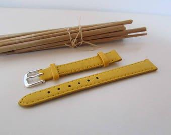 Bracelet montre 12 mm en cuir - 10 coloris